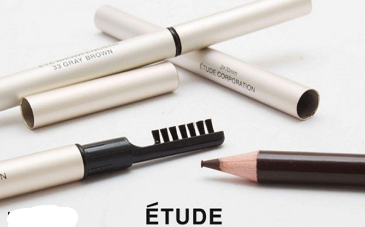مداد ابرو اتود مدل Etude Corporation شماره 34 Etude Etude Corporation  Eyebrow Pencil 34   فروشگاه اینترنتی روژ بیوتی
